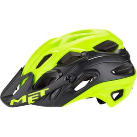 MET Lupo Cykelhjelm, matt safety yellow/black